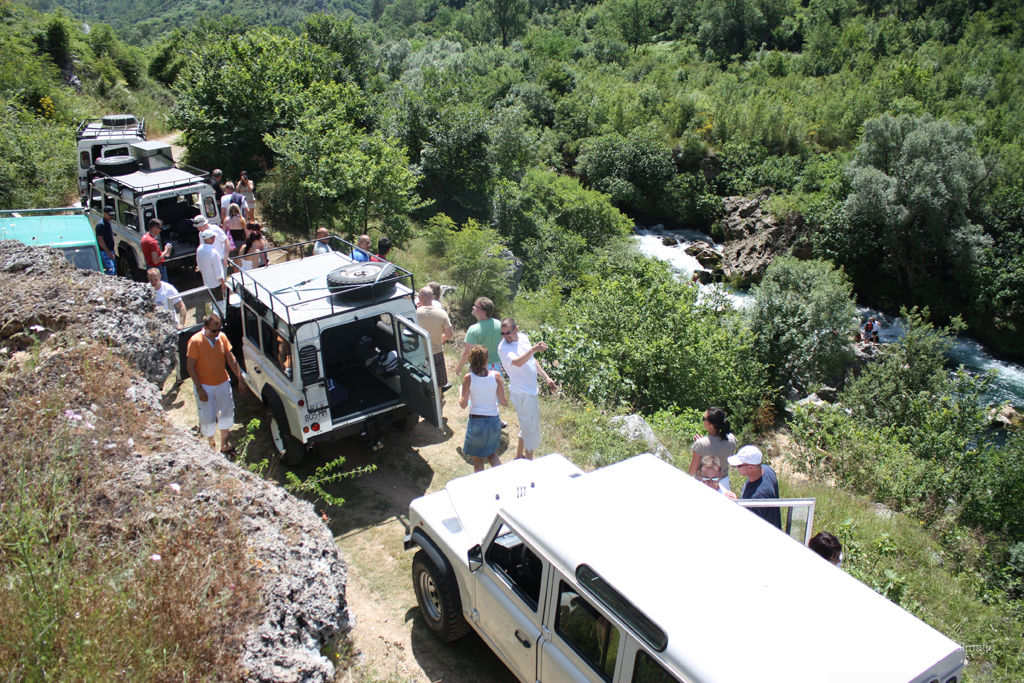 Exploring the Cetina river on a Jeep safari tour