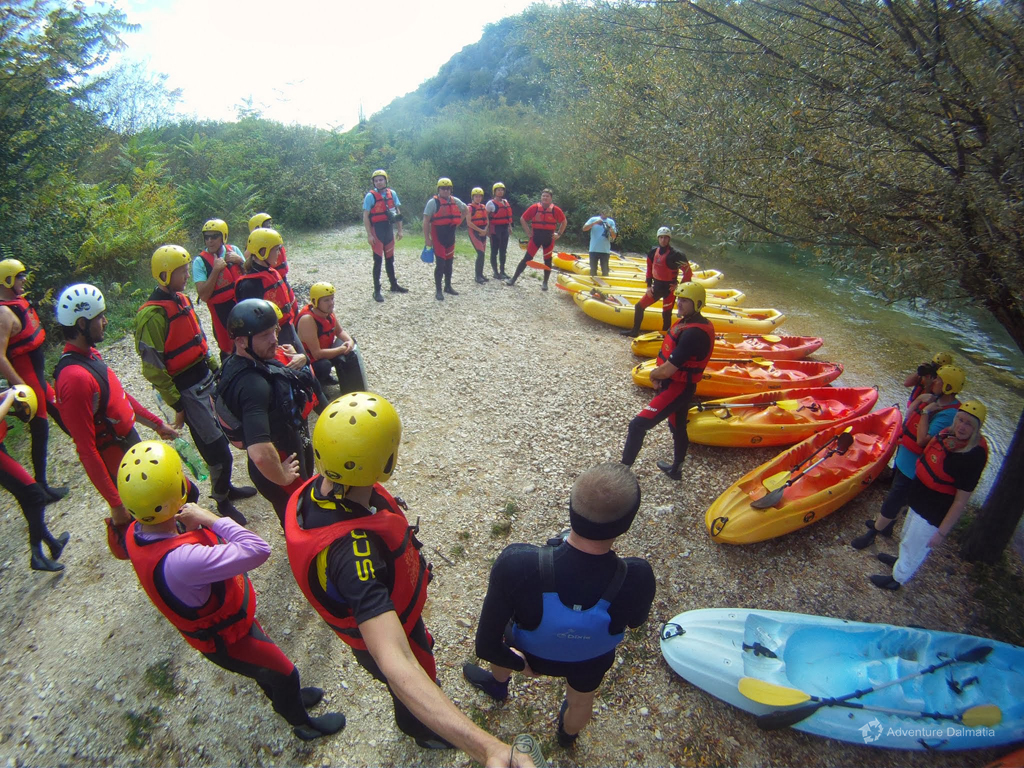 Canoe Safari trip starts with a safety briefing from our guides