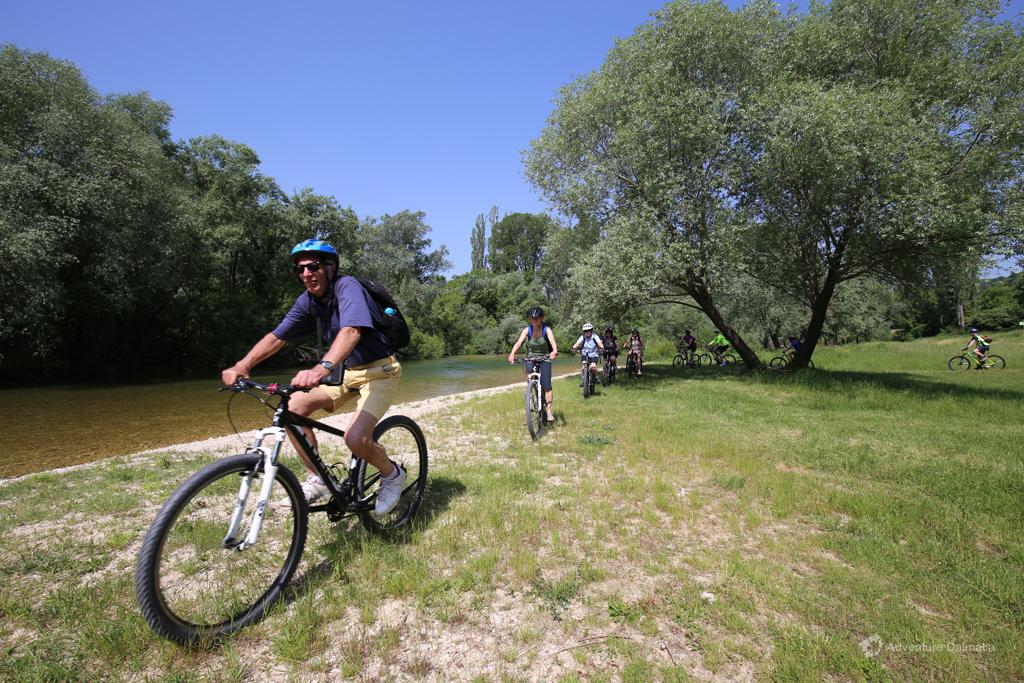 Dalmatian inland biking starting not far from Split city
