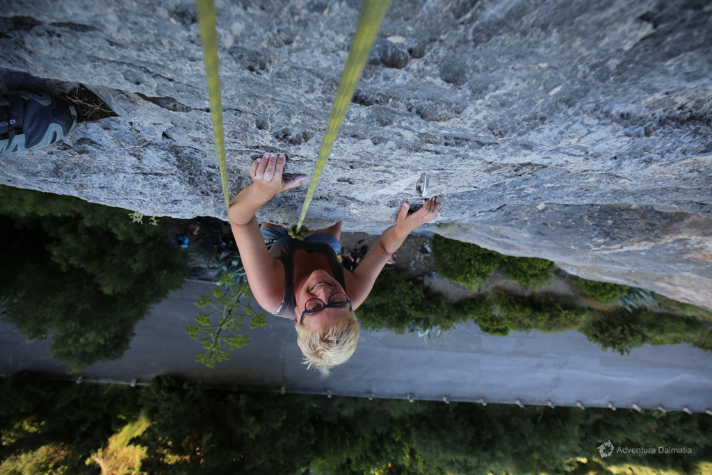 Rock climbing with Split Adventure.