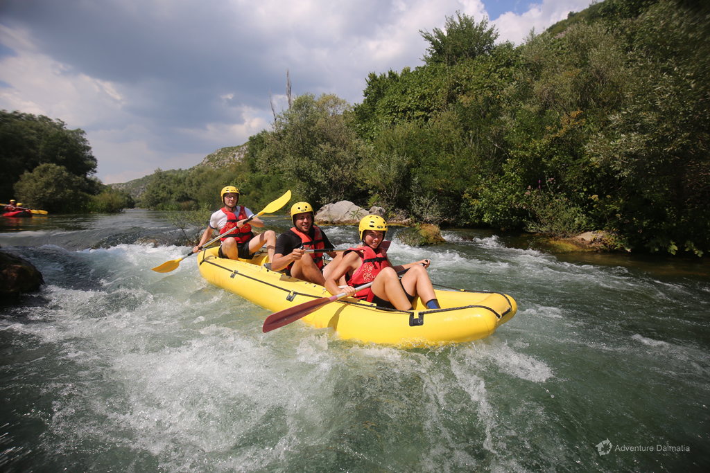 Rafting on Cetina river suitable for begginers, as well