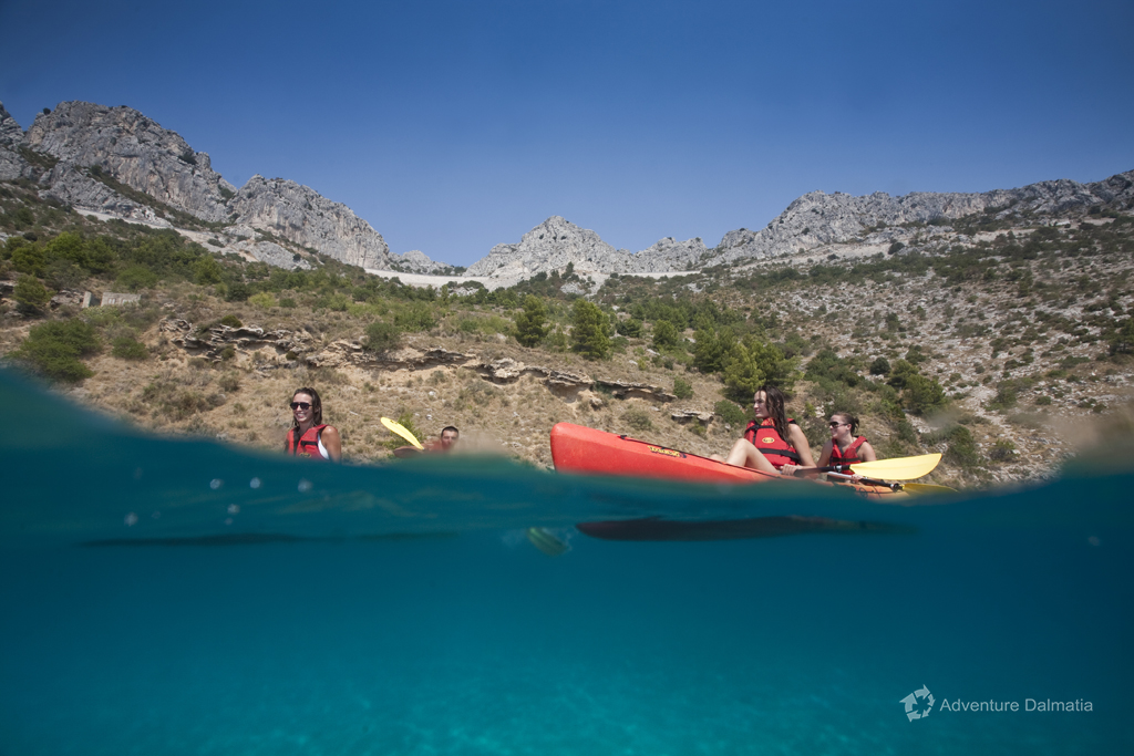 Kayaking in Brela, 50 minutes from Split with transfer, departures every day