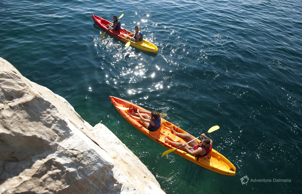 Kayaking tour in the city of Split