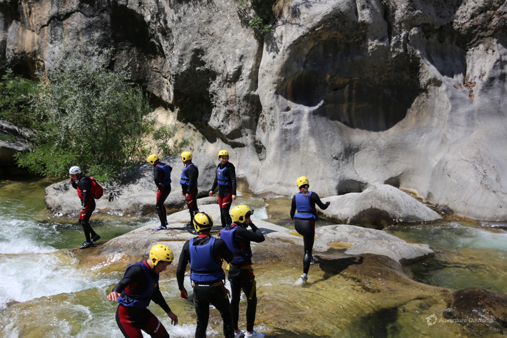 On the way to the next rapid, Extreme Canyoning