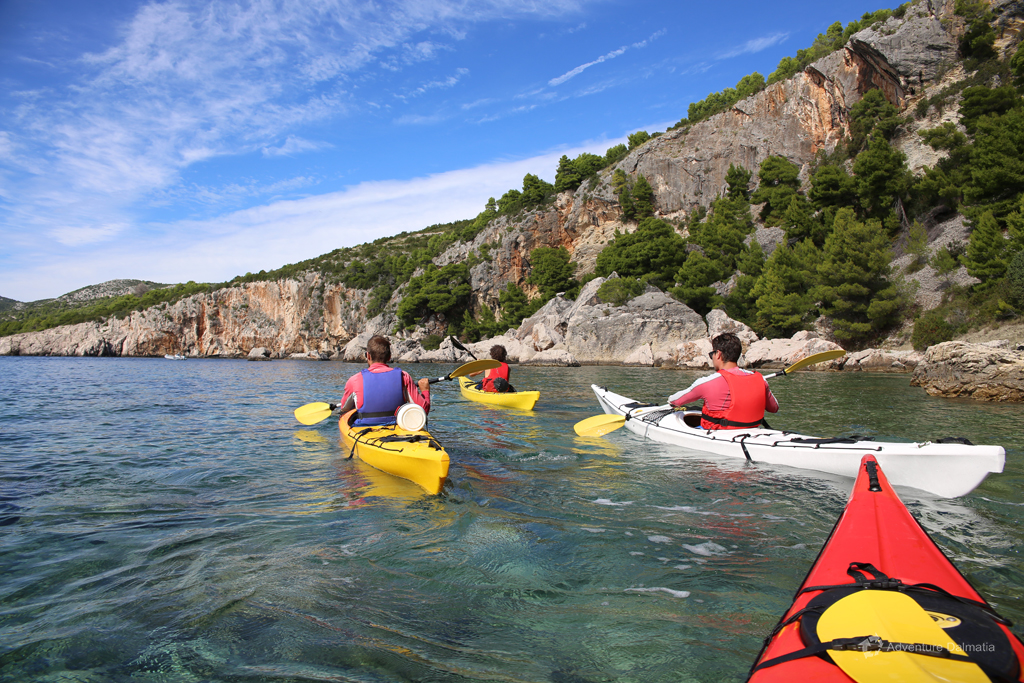 Our guides having fun on a kayaking tour around Split