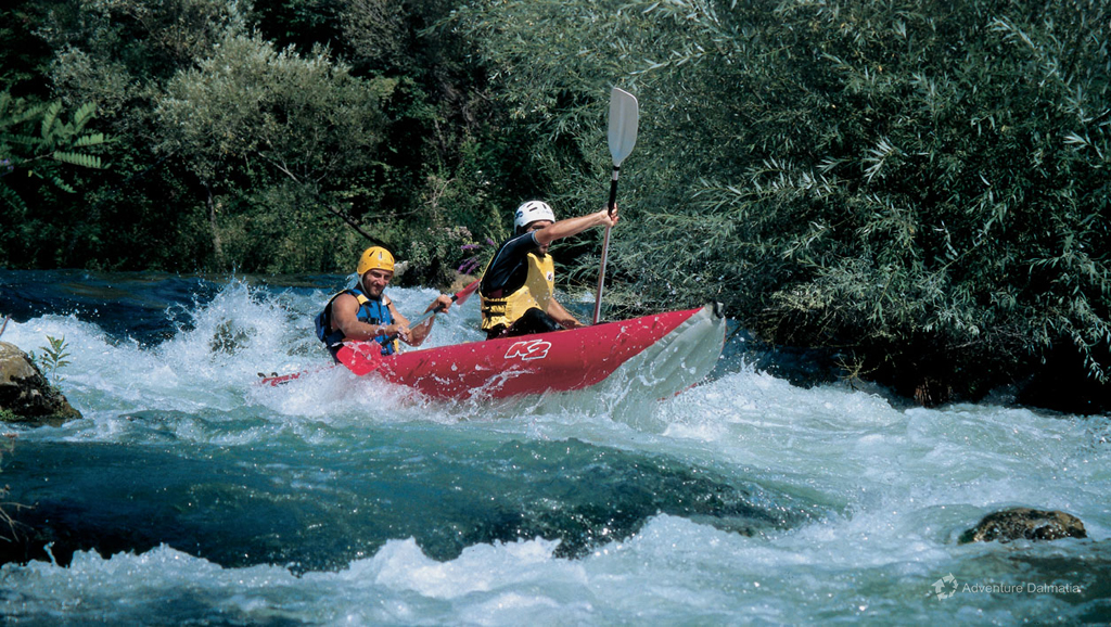 River Canoe Day Tour on Cetina River in Central Dalmatia, available with pick up from Split