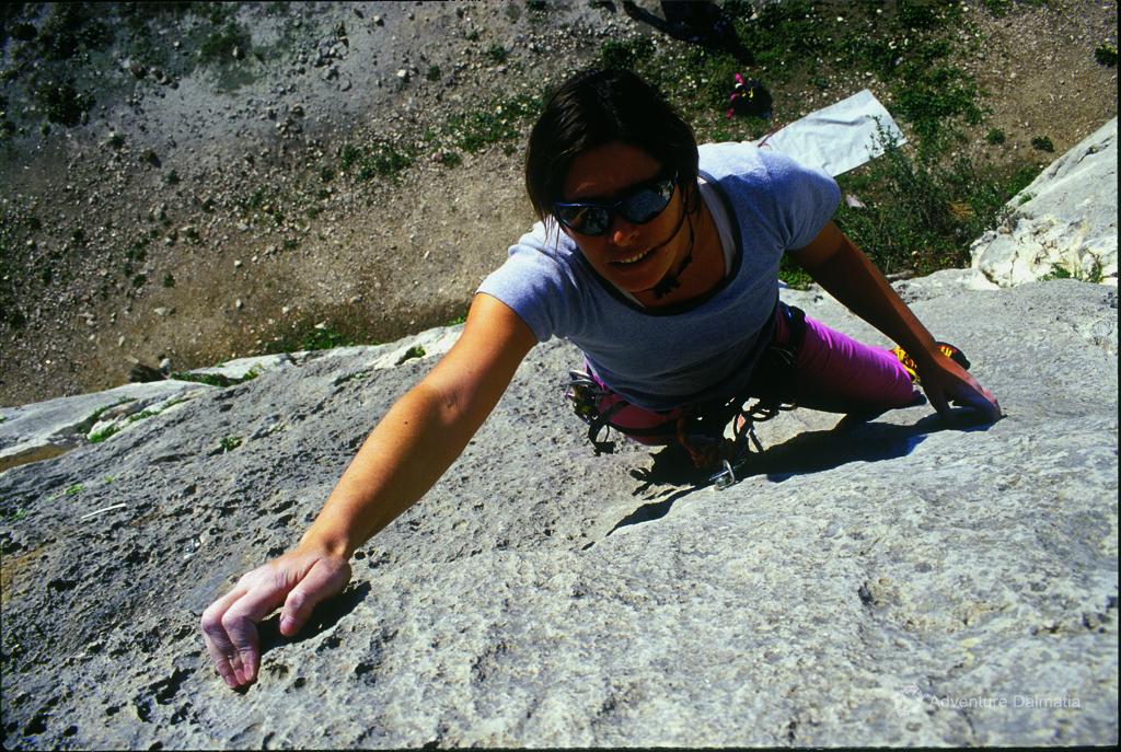 Rock climbing near the city of Split