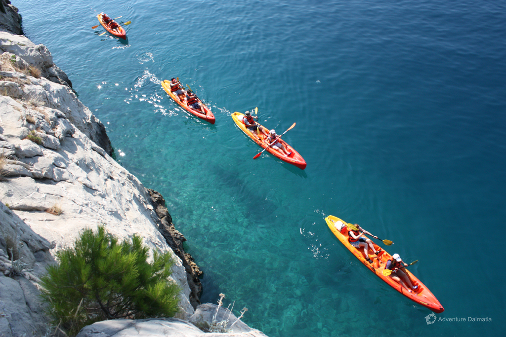 Sea kayaking Brela day tour - Available with pick up from Split city center