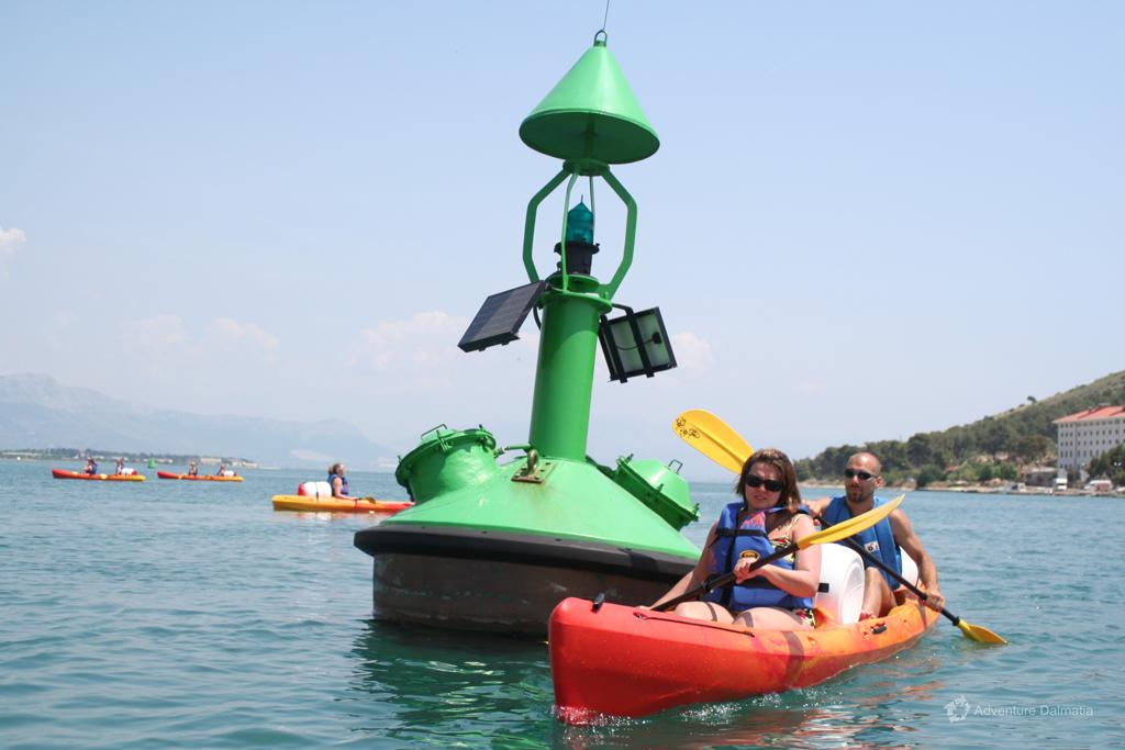 Sea kayaking in Trogir