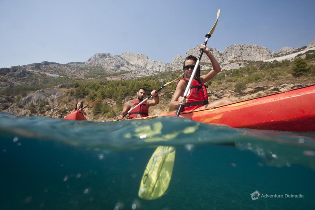 Sit on top kayaks, kayaking tour in Brela