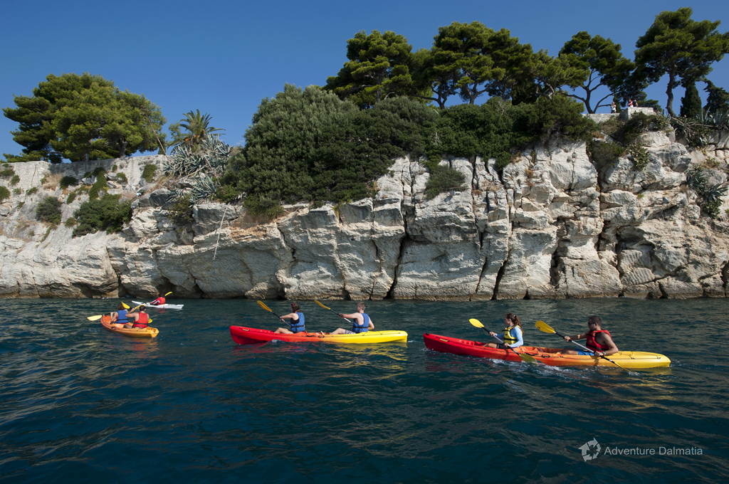 Sea kayaking tour around Split