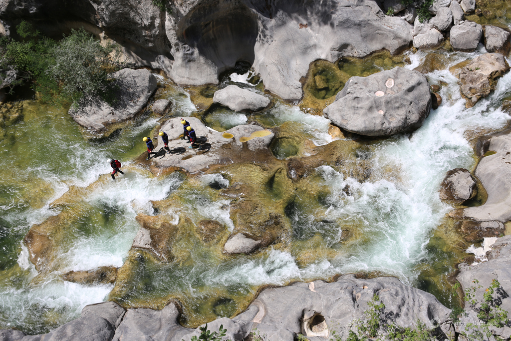 The first part of the Cetina canyon with rapids
