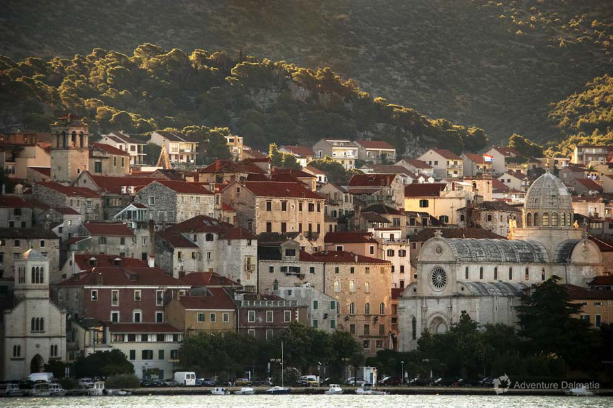 Šibenik, view from the sea side