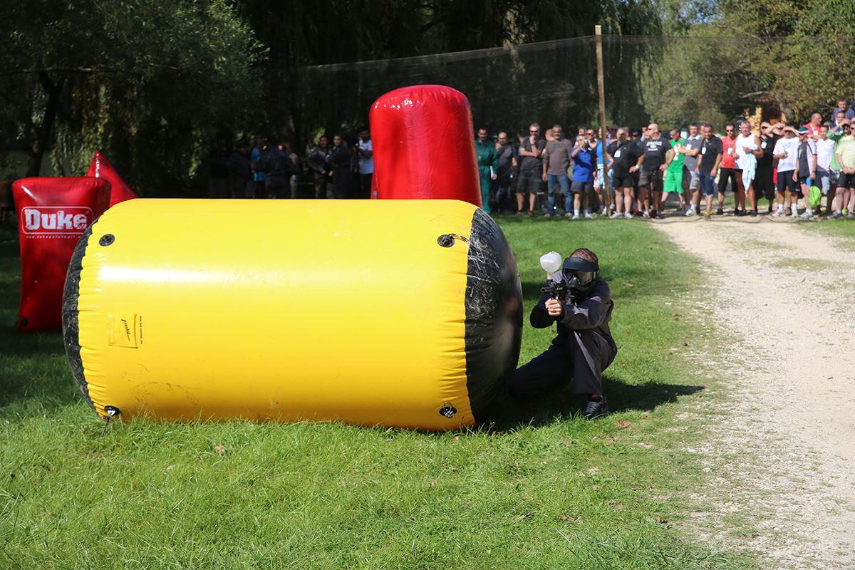 Team building games - Paintball field near Cetina river