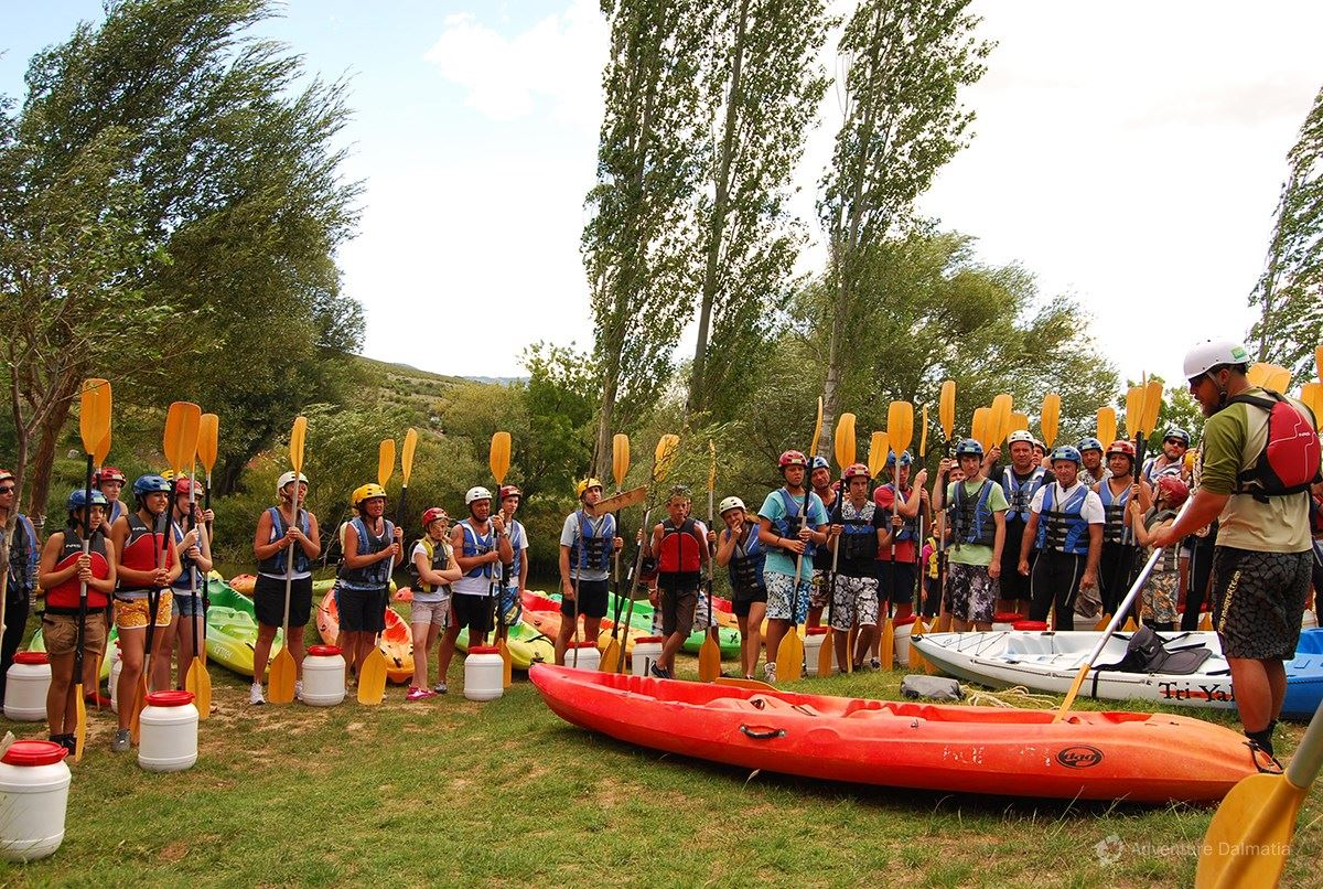 Rafting trip begins in Kastel Zegarski, one hour drive from Zadar