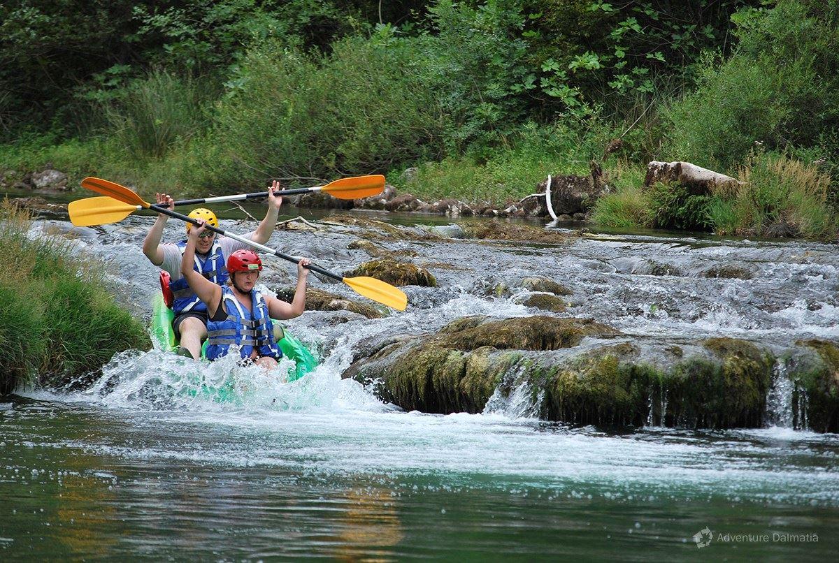 Canoe safari is level 2 and 3 on Zrmanja river