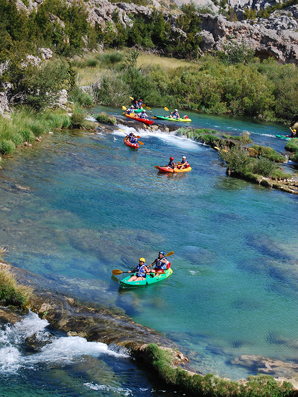 On a canoe safari trip you will experience Zrmanja on its calm and wilder parts