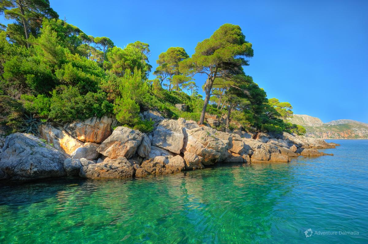 Beaches on the island of Lokrum
