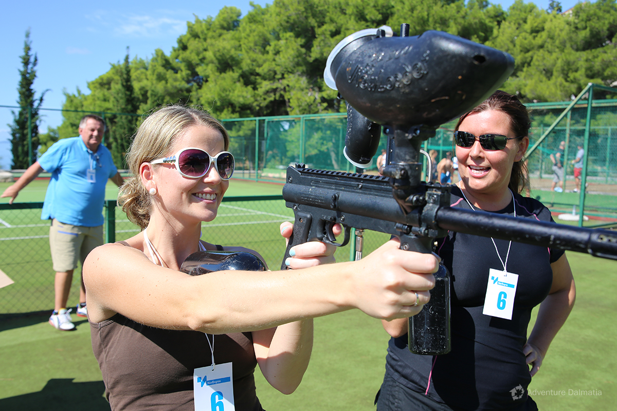 Team building games - Paintball shooting
