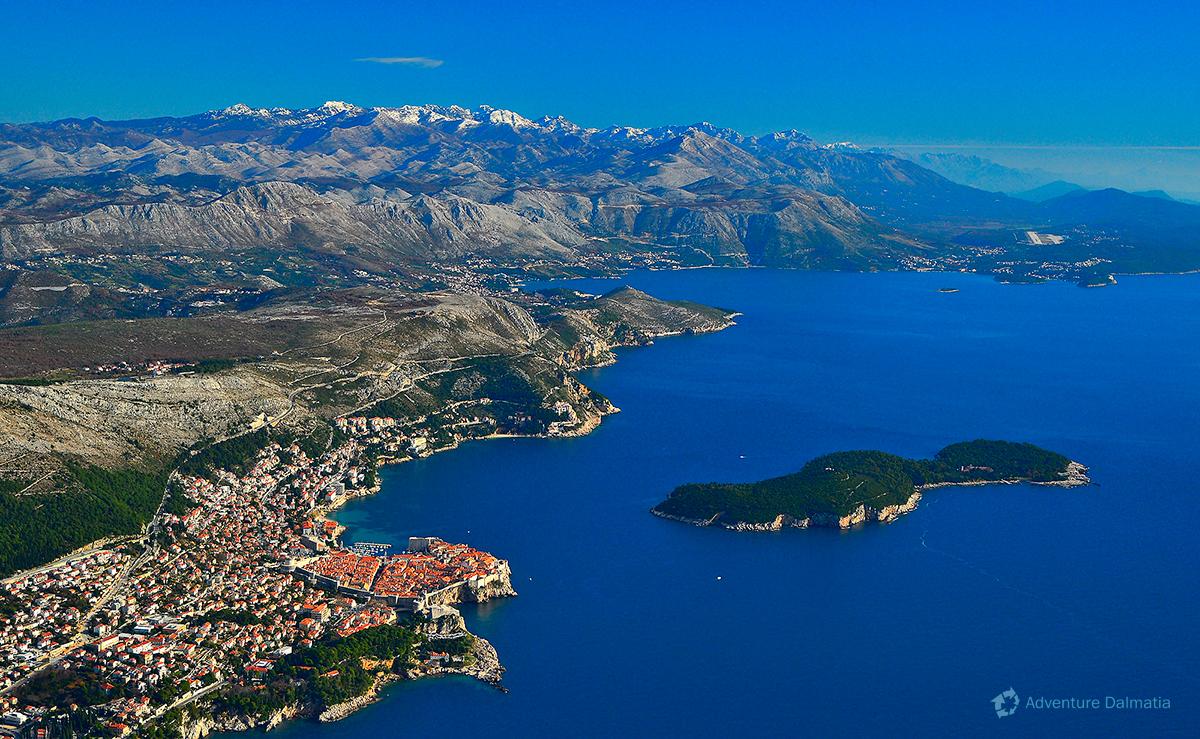 Lokrum island near Dubrovnik city