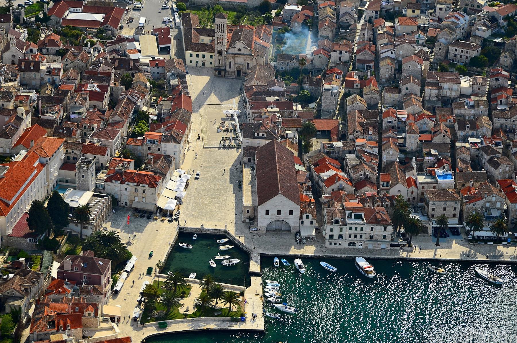 Hvar town, bird's-eye view