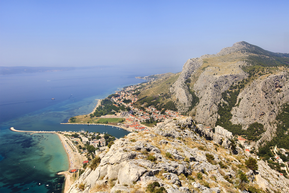 View of Omiš from Fortica fortress
