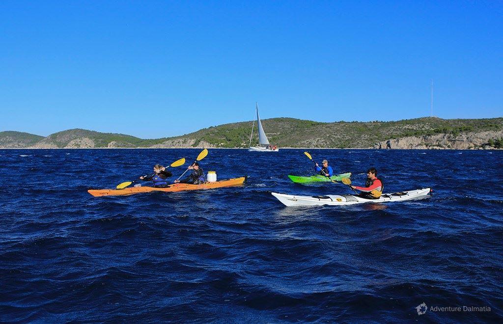 Open sea paddling.