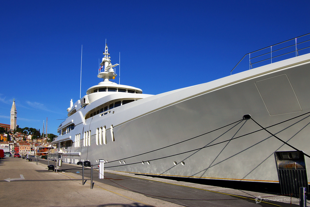 Coastal towns are popular yacht destinations
