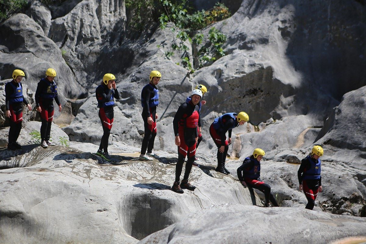 Canyoning on Cetina river, departures everyday from Split city center