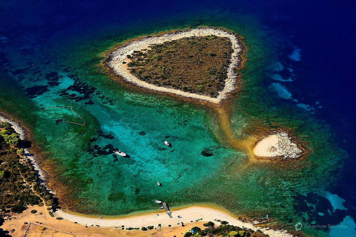 Budikovac island on the south side of the island of Vis