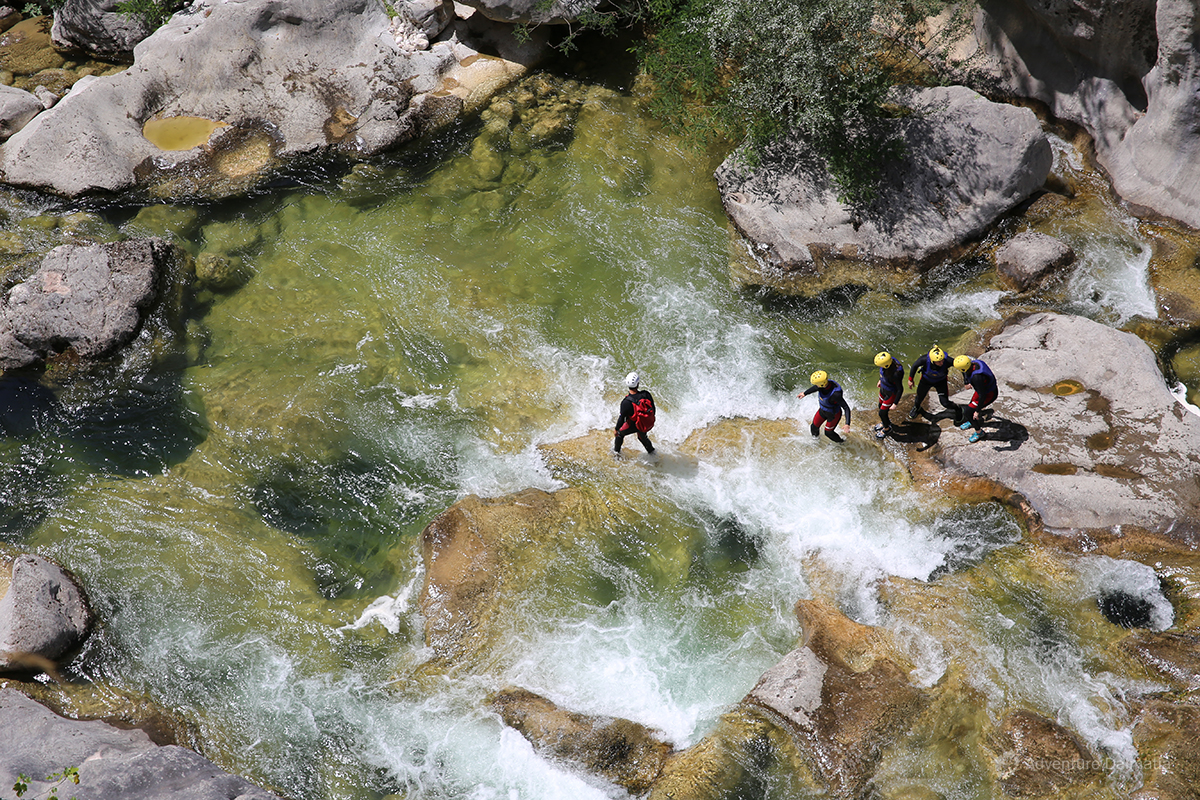 White waters of Cetina river