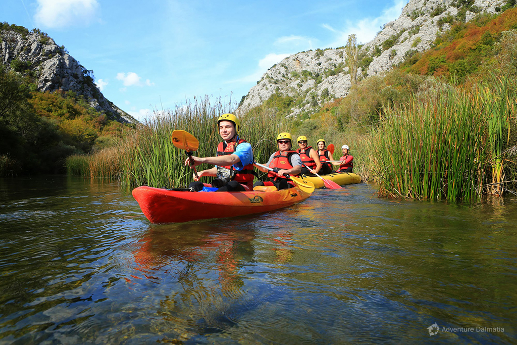 Canoe safari on Cetina river.