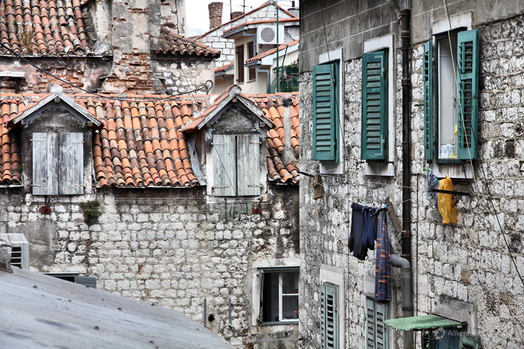 Stone houses in the city center