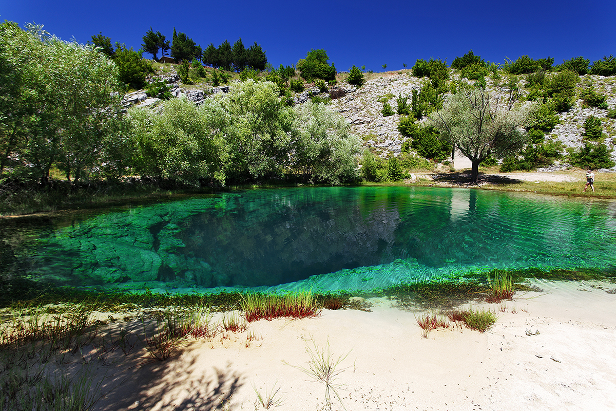 The spring of Cetina river near Vrlika.