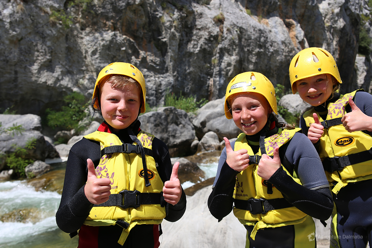 Minimum age for the Cetina Canyoning trip is 8 years