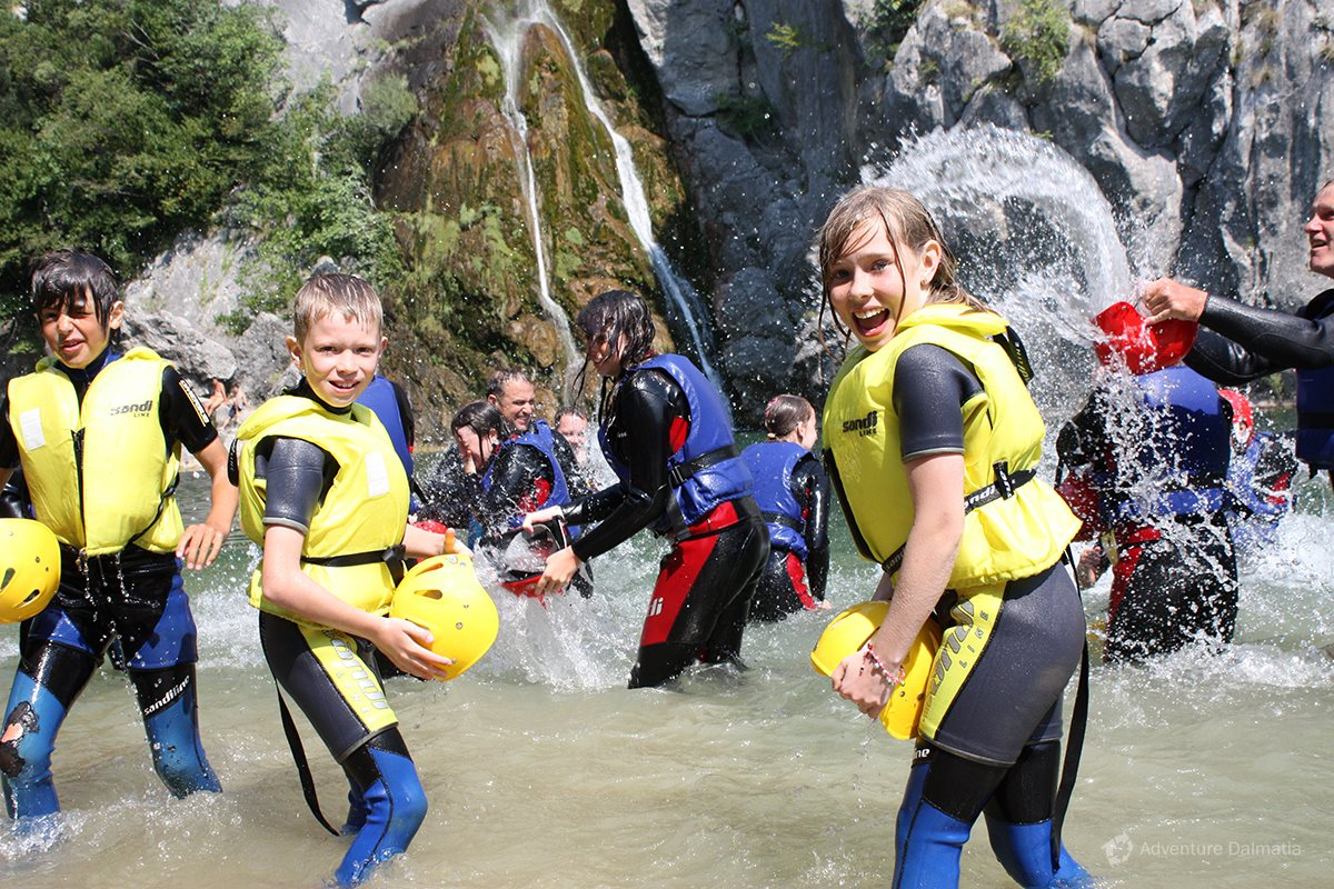 Canyoning day trip, River Cetina, Central Dalmatia