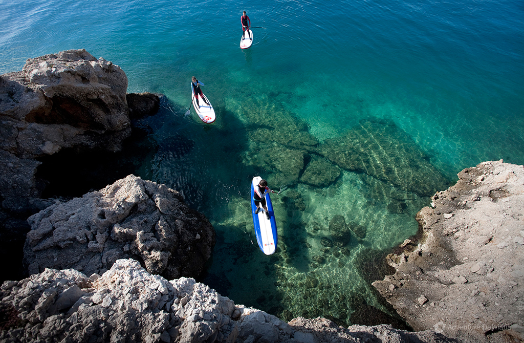 Stand up paddling activity available with every day departure from Split city center