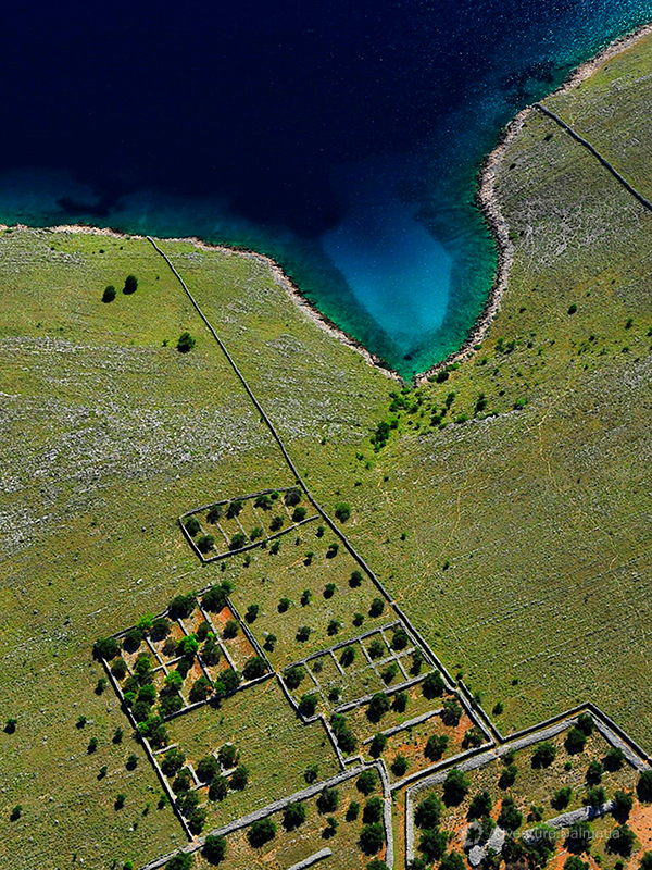 Untouched bays of National park Kornati archipelago