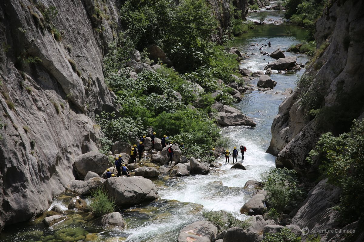 Beautiful nature in the 104km long canyon of Cetina river near Split