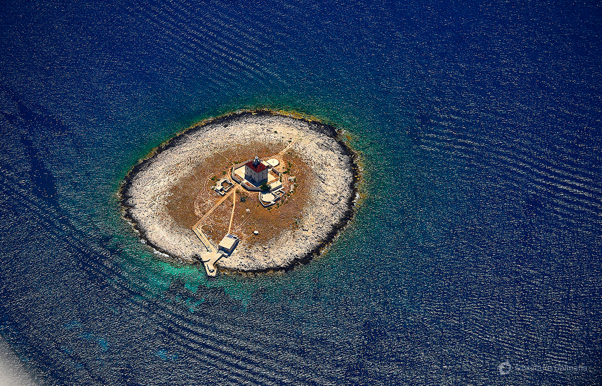 Lighthouse on the island of Pokonji Dol near Hvar Town