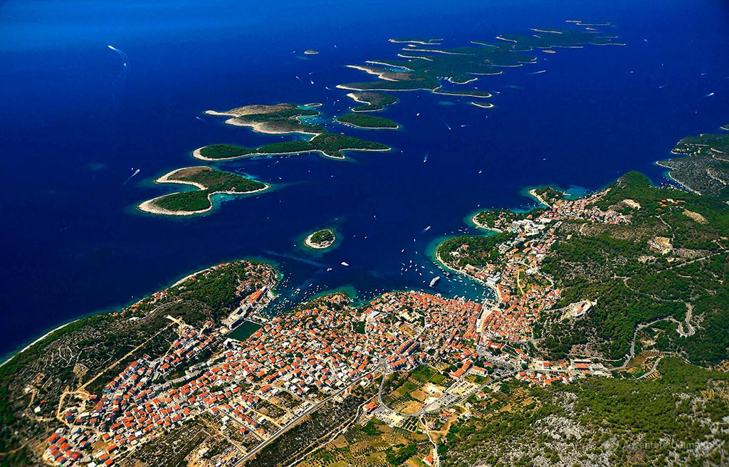 City of Hvar and Pakleni islands.