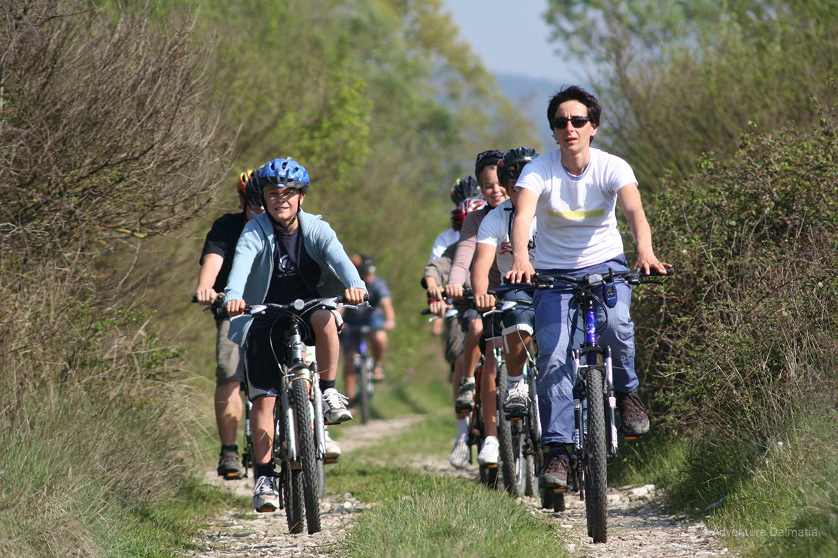 Group biking in Konavle valley, start from Gruda