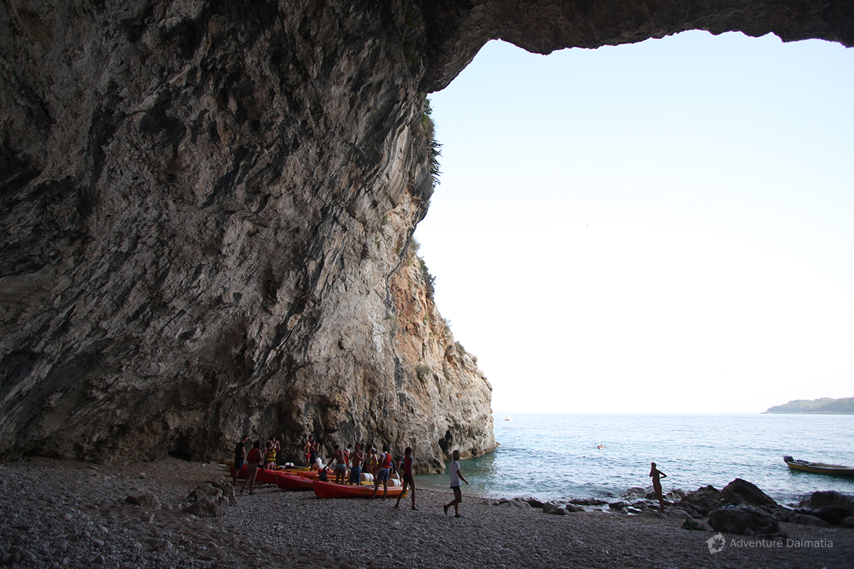 Inside the Betina cave in Dubrovnik