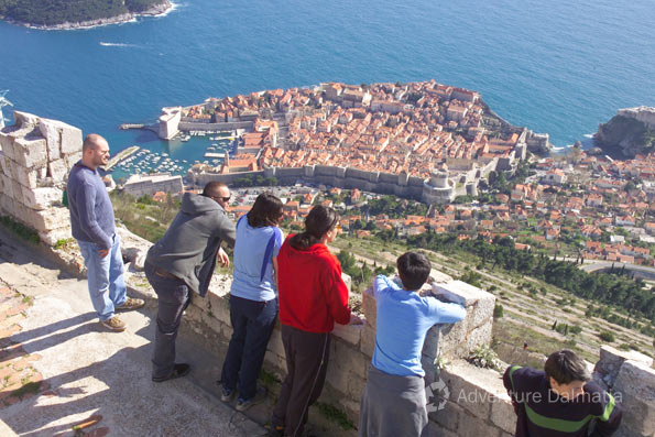Overlooking the city of Dubrovnik
