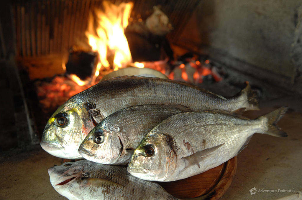 Grilled fish is traditional Dalmatian dish.