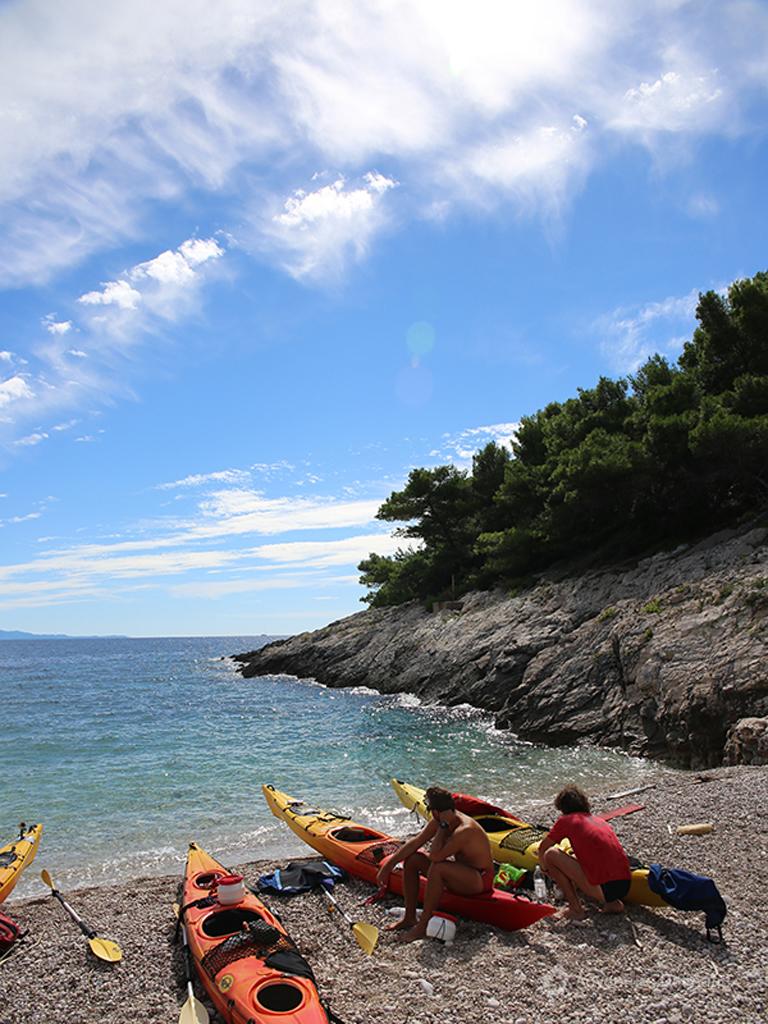 Short break at the beach. Kayaking on Hvar island.
