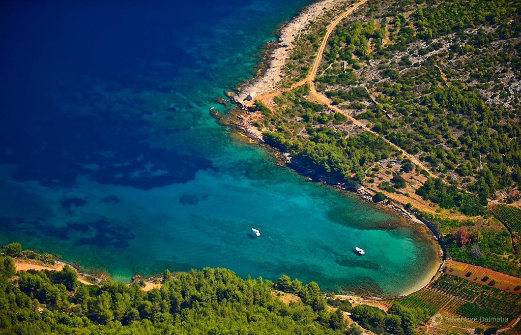 One of the beautiful bays on Hvar island