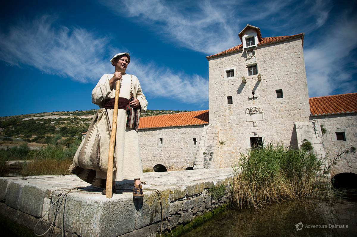 Pantana mill is our start position for sea kayaking tour around city of Trogir. Mladen Pavić the own