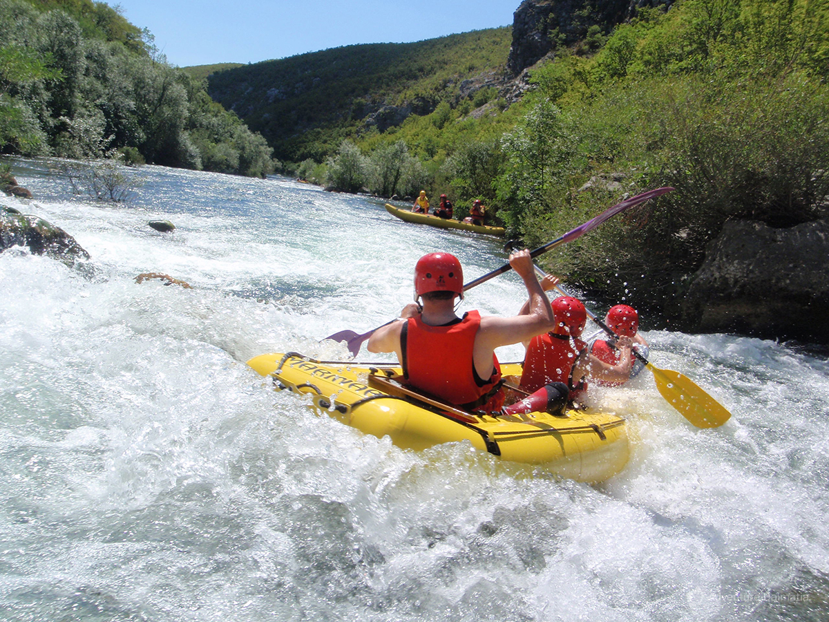 Rafting in the canyon of river Cetina