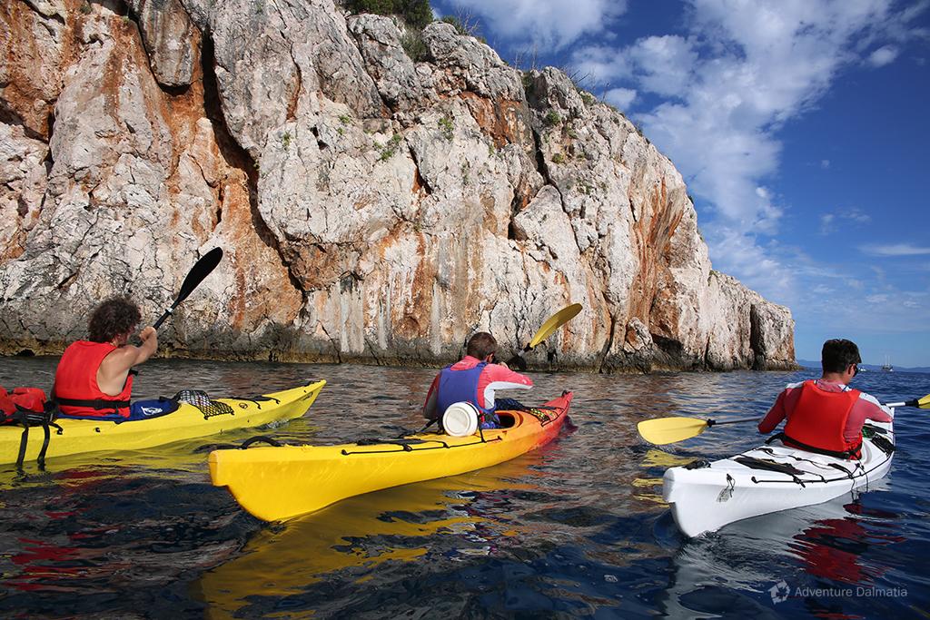 Multi-day sea kayaking tour.